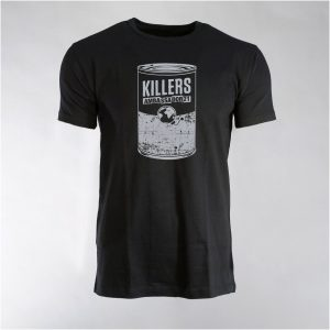 "AMBASSADOR21 ""Killers"" black t-shirt with silver front print"